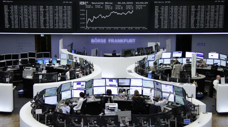 Earnings lift stocks but Greek anxiety hits euro