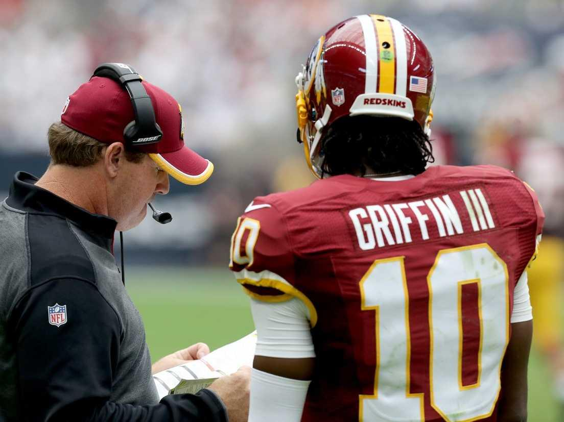 Robert Griffin III on why his coach left him in a preseason game when he was getting pummeled: 'I just work here, man'