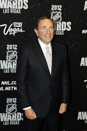 NHL Commissioner Gary Bettman poses for a photo before the start of the NHL Awards, Wednesday, June 20, 2012, in Las Vegas. (AP Photo/Julie Jacobson)
