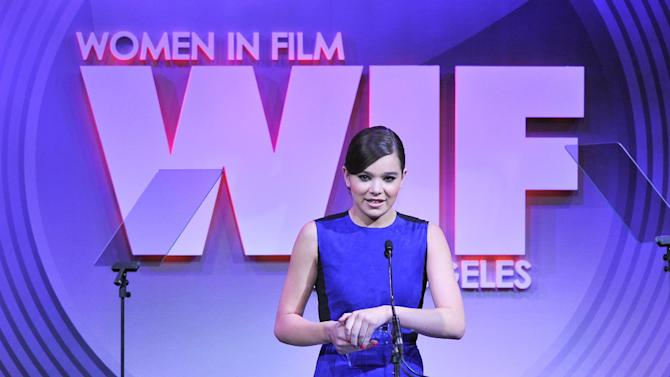 Actress Hailee Steinfeld attends the Women in Film's 2013 Crystal + Lucy Awards at The Beverly Hilton Hotel on Wednesday, June 12, 2013 in Beverly Hills, Calif. (Photo by Vince Bucci/Invision/AP)