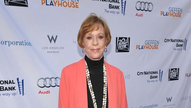 "COMMERCIAL IMAGE - In this image provided by Geffen Playhouse, Carol Burnett arrives at the ""Backstage At The Geffen"" Fundraiser at the Geffen Playhouse on Monday, June 4, 2012 in Los Angeles. (Photo by John Shearer/Invision for Geffen Playhouse)"