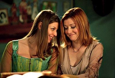 Amber Benson and Alyson Hannigan of Buffy The Vampire Slayer
