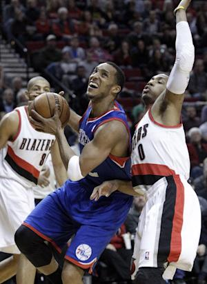 Young, Sixers hold off Blazers for 101-99 win