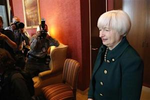 Yellen arrives to meet with Schumer in his office on Capitol Hill in Washington