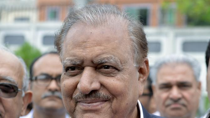 Pakistan's President Mamnoon Hussain, pictured in Islamabad in 2013