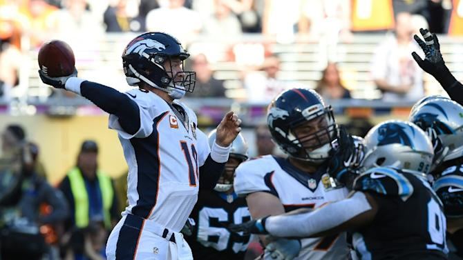 Denver Broncos' quarterback Peyton Manning completed 13 passes for 141 yards during the Super Bowl 50 victory against the Carolina Panthers at Levi's Stadium in Santa Clara, on February 7, 2016