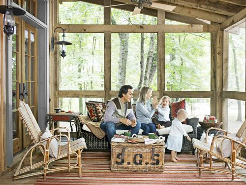 Keep a Cabin Porch Cozy