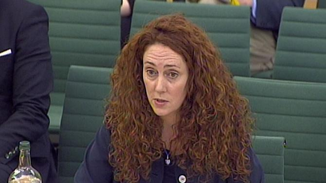 Rebekah Brooks gives evidence to the Culture, Media and Sport Select Committee on the News of the World phone-hacking scandal in this image taken from TV in Portcullis House in central London, Tuesday July 19, 2011. (AP Photo/ PA)  UNITED KINGDOM OUT