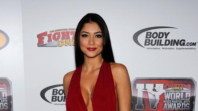 LAS VEGAS, NV - NOVEMBER 30:  Ring girl and model Arianny Celeste poses after winning the Ring Girl of the Year award at the Fighters Only World Mixed Martial Arts Awards 2011 at The Pearl concert theater at the Palms Casino Resort November 30, 2011 in Las Vegas, Nevada.  (Photo by Ethan Miller/Getty Images)