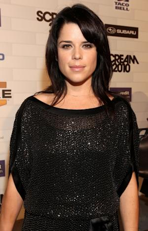 "Neve Campbell arrives at Spike TV's ""Scream 2010"" at The Greek Theatre, Los Angeles, October 16, 2010  -- Getty Images"