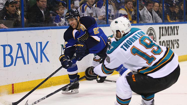 San Jose Sharks v St. Louis Blues