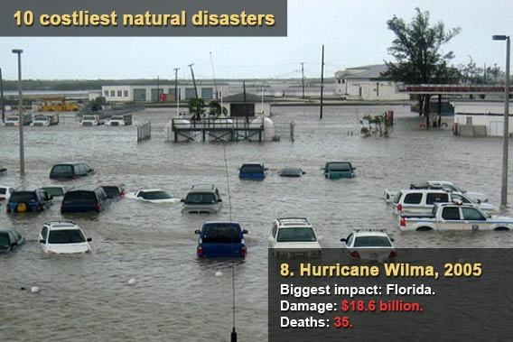 10 costliest natural disasters - Hurricane Wilma
