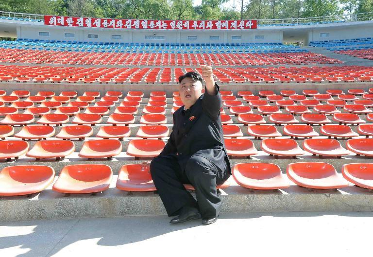 North Korean leader Kim Jong Un inspects an open-air theatre in Wonsan, a city where executions were said to have taken place, in a picture handout on May 31, 2013
