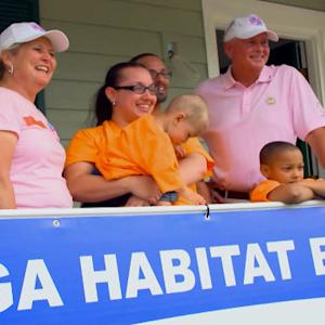 PGA of America and Tour Wives build Habitat House