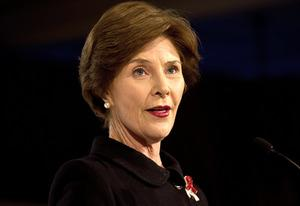 Laura Bush | Photo Credits: Nicholas Kamm/Getty Images
