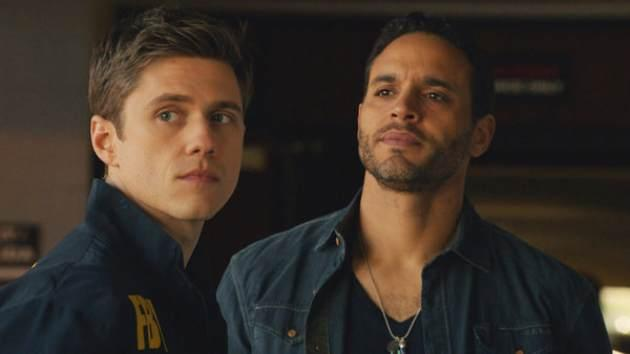 Aaron Tveit as Mike Warren, Daniel Sunjata as Paul Briggs in USA's 2013 new summer series, 'Graceland' -- USA