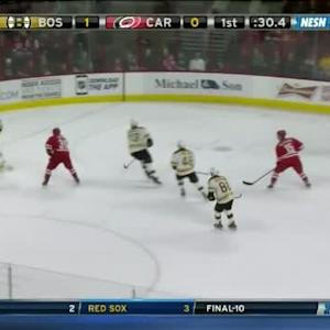 Tuukka Rask Save on Justin Faulk (19:30/1st)