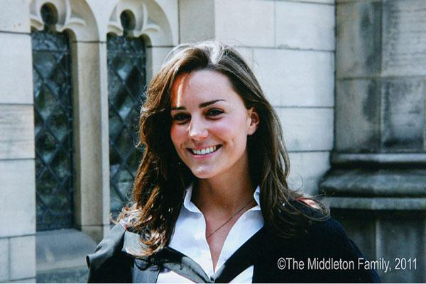 Kate Middleton on her graduation day from St Andrews University. Picture by: The Middleton Family / Splash News