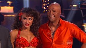Karina Smirnoff and J.R. Martinez get the judges' results on 'Dancing with the Stars,' Week 5, Oct. 17, 2011 -- ABC