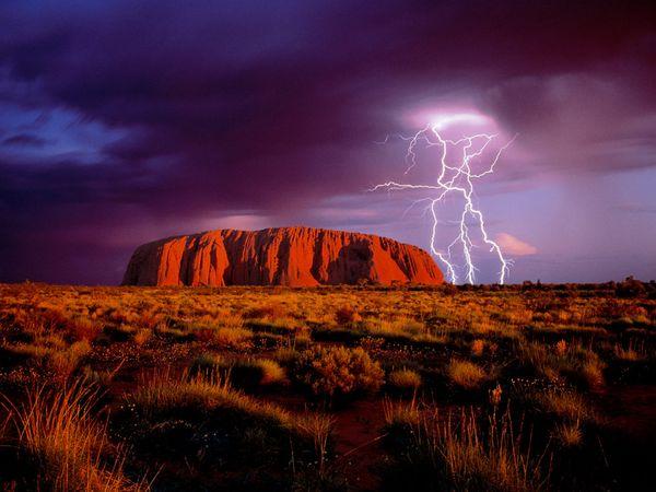 Ayers Rock in Uluru National…
