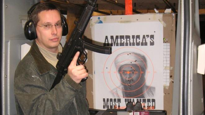 The author at a local shooting range.