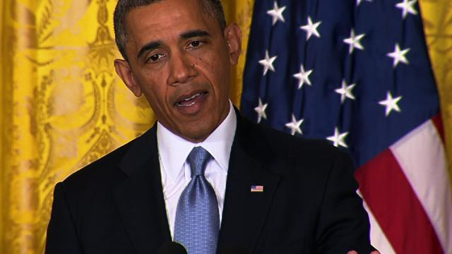 """Outrageous"" that IRS targeted tea party groups, Obama says"