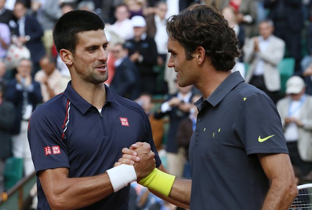 Serbia's Novak Djokovic (L) Shakes AFP/Getty Images