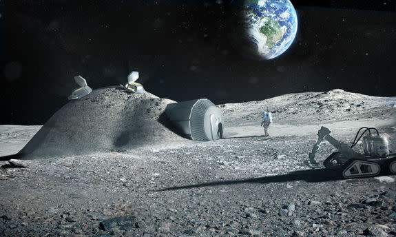 How 3D Printers Could Build Futuristic Moon Colony