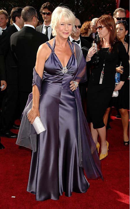 Helen Mirren arrives at the 59th Annual Primetime Emmy Awards at the Shrine Auditorium on September 16, 2007 in Los Angeles, California.