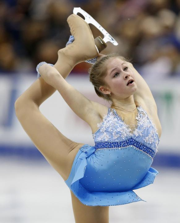 Of russia skates during her ladies short program at the skate canada