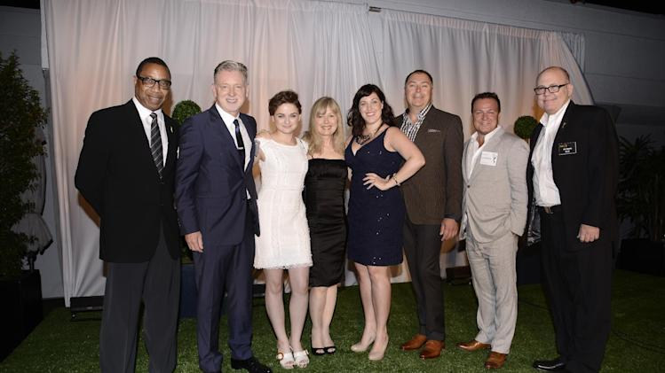 Screech Washington, and from left, Warren Littlefield, Joey King, Kim Todd, Allison Tolman, Mike Frislev, Chad Oakes andTim Gibbons attend at the Television Academy's 66th Emmy Awards Producers Nominee Reception at the London West Hollywood on Friday, Aug. 22, 2014. (Photo by Dan Steinberg/Invision for the Television Academy/AP Images)