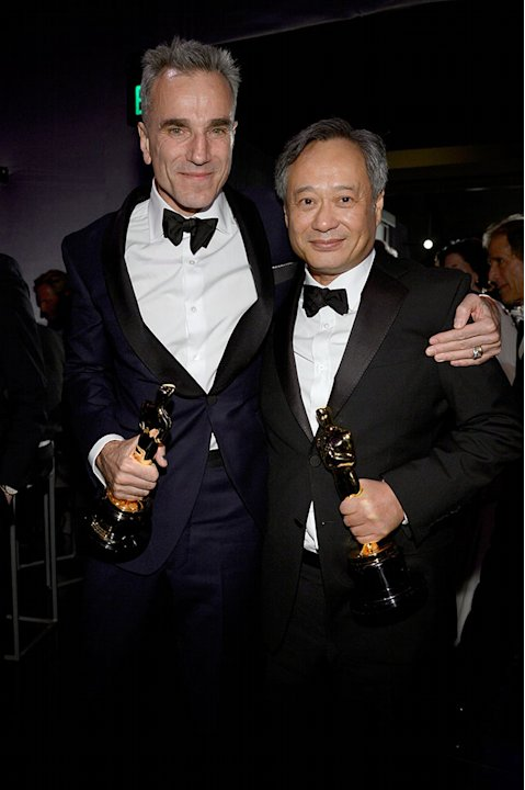 85th Annual Academy Awards - Governors Ball: Daniel Day-Lewis and director Ang Lee