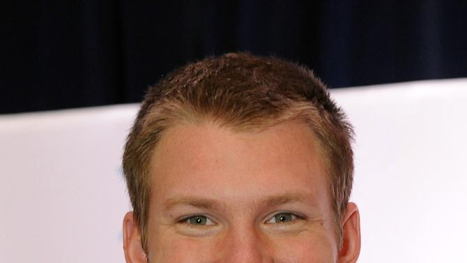 Minnesota Viking Kyle Rudolph, Pro Bowl MVP, is seen at the Starkey Hearing Foundation's Bring the Gift of Hearing to New Orleans event on Saturday, Feb. 2, 2013 in New Orleans. (Photo by Cheryl Gerber/Invision for Starkey Hearing Foundation/AP Images)