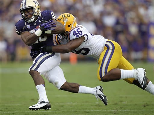 No. 3 LSU runs past Washington 41-3