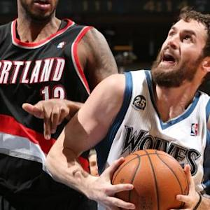 Love Lifts Wolves Over Blazers