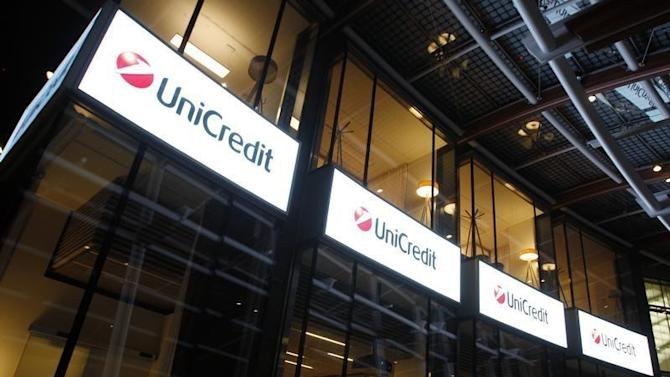 UniCredit Bank headquarters is pictured in Milan