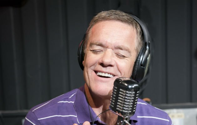 Don't It Make You Feel Good?... Stefan Dennis on the mic (Copyright: Channel 5)