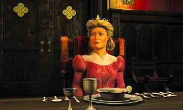 Queen Lillian ( Julie Andrews ), Princess Fiona?s mother, in Dreamworks' Shrek 2