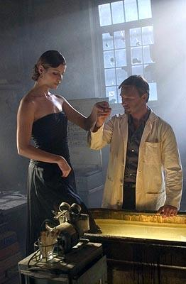 "Ivana Milicevic as Erika Helios and Thomas Kretschmann as Victor Helios USA Network's ""Frankenstein"""
