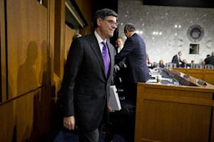 Treasury Secretary Jacob Lew arrives on Capitol Hill …