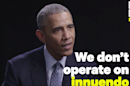 Obama says FBI investigations shouldn't 'operate on innuendo'