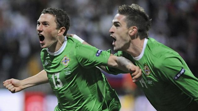 Corry Evans and Kyle Lafferty (Reuters)