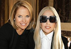 Katie Couric and Lady Gaga | Photo Credits: Lou Rocco/ABC
