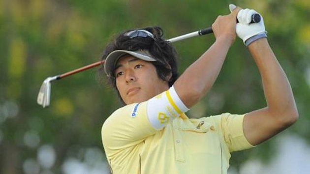 Ryo Ishikawa of Japan tees off