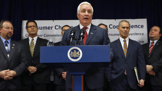 Governor promises liquor proceeds to Pa. schools