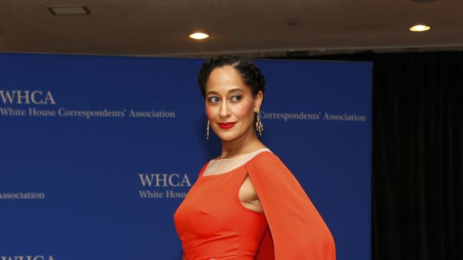 Actress Tracee Ellis Ross arrives for the annual White House Correspondents' Association dinner in Washington