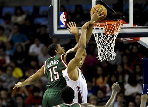 Harris, Lamb lead Bucks over Bobcats 100-90