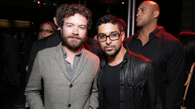 Danny Masterson and Wilmer Valderrama at FilmDistrict's Premiere of 'Olympus Has Fallen' hosted by Brioni and Grey Goose at the ArcLight Hollywood, on Monday, March, 18, 2013 in Los Angeles. (Photo by Eric Charbonneau/Invision for FilmDistrict/AP Images)