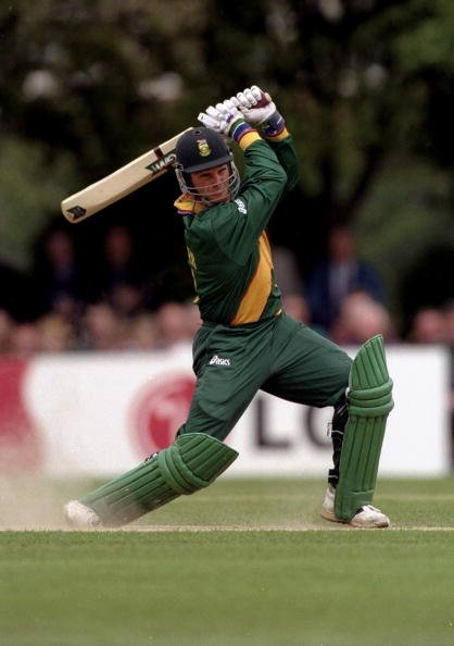 12 May 1999:  Mark Boucher of South Africa in action during a Cricket World Cup warm up match against Middlesex played in Southgate, England. \ Mandatory Credit: Stu Forster /Allsport