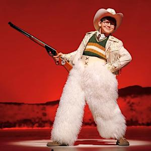 """This theater image released by Keith Sherman & Associates shows Johnny Rabe during a performance of """"A Christmas Story, The Musical"""" in New York. (AP Photo/Keith Sherman & Associates, Carol Rosegg)"""